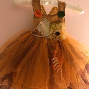 EUC POTTERY BARN KID SCARECROW DRESS